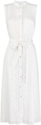 Vince Striped Belted Midi Dress