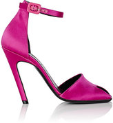 Balenciaga Women's Broken-Heel Satin Sandals