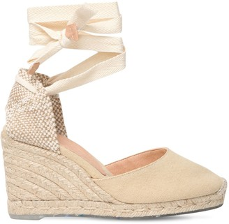 Castaner 80mm Carina Eco-Cotton Espadrille Wedges