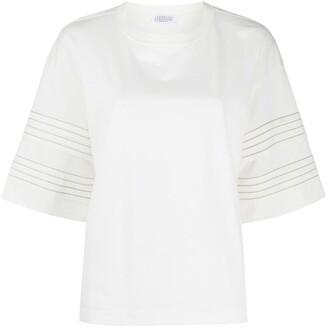 Brunello Cucinelli monili detail T-shirt