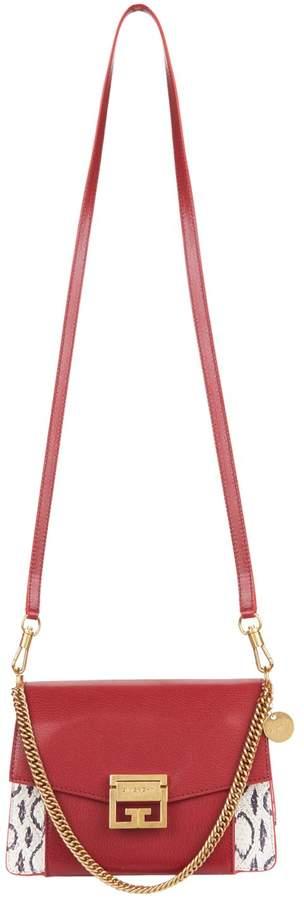 Givenchy Small Snakeskin GV3 Cross Body Bag