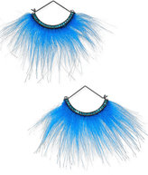 Betsey Johnson xox Trolls Faux-Fur Fan Earrings, Only at Macy's