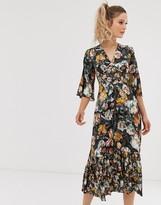 Closet London Closet v neck front split dress