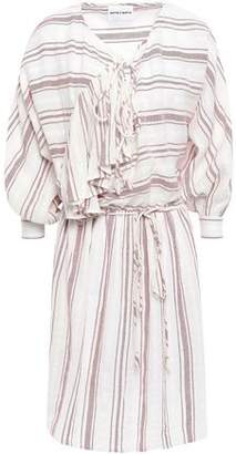 Antik Batik Serifos Ruffled Striped Cotton-gauze Dress