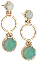 Expression Stone and Open Circle Drop Earrings