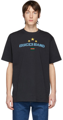 Gucci Black Oversize Band T-Shirt