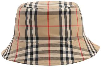 Burberry VINTAGE CHECK COTTON BLEND BUCKET HAT