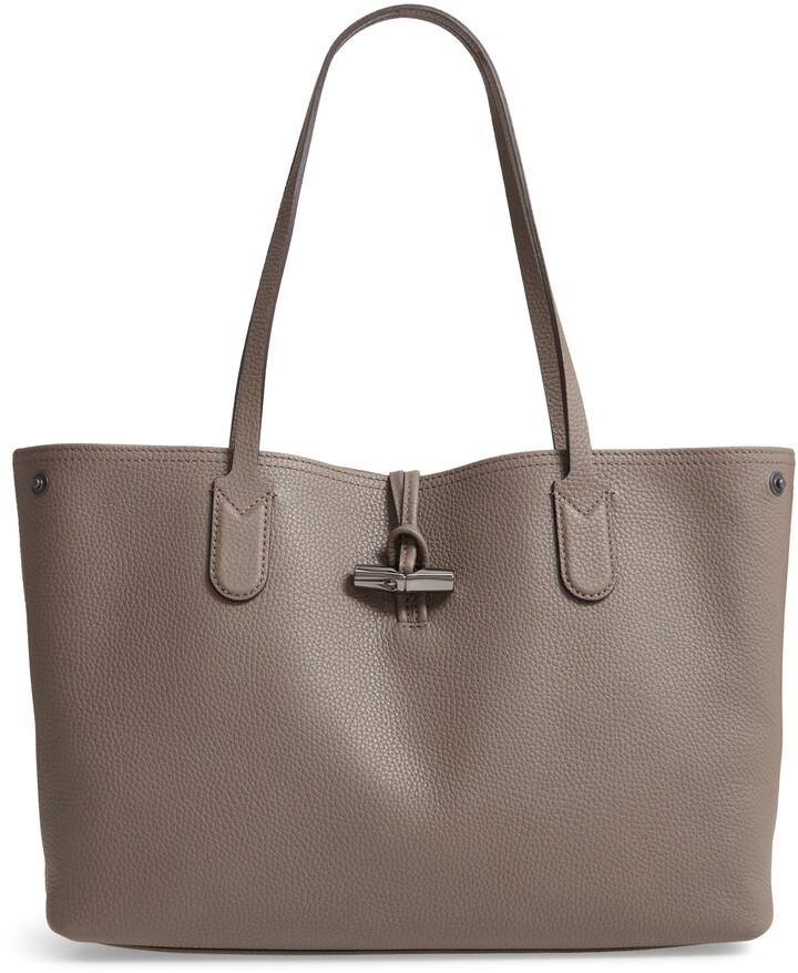 ed3f394b2b Longchamp Gray Leather Handbags - ShopStyle