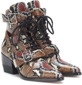 Chloé Rylee printed leather ankle boots