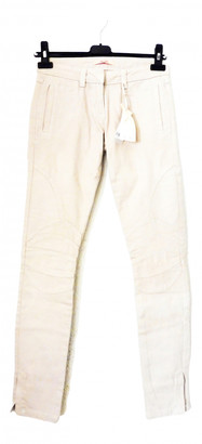 Bel Air Beige Cotton Jeans for Women