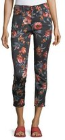 Jen7 by 7 for All Mankind Floral-Print Skinny Ankle Jeans