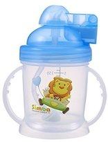 Simba BPA Free Baby Training Cup w/ 360? Auto Straw (Blue) by