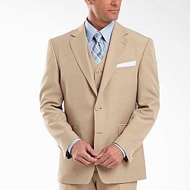 JCPenney Stafford® Essentials Khaki Suit Jacket - Big & Tall