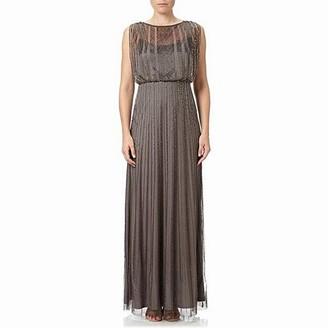 Adrianna Papell Women's Cap Sleeve Beaded Blouson Gown