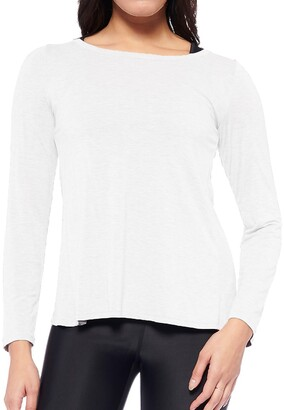 Express Electric Yoga Long Sleeve Cross Back Tee