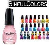 Sinful Lot of 10 Colors Finger Nail Polish Color Lacquer All Different Colors No Repeats