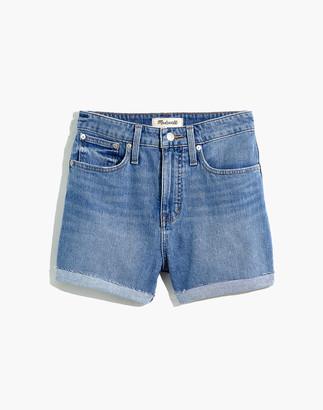 Madewell Curvy High-Rise Denim Shorts in Wyndale Wash