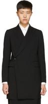 Y's Ys Black K-long Coat