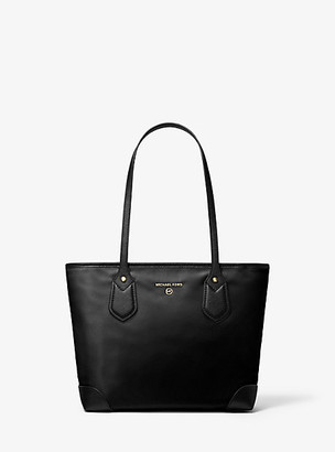 Michael Kors Eva Small Nylon Gabardine Top-Zip Tote Bag