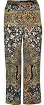River Island Womens Plus green print wide leg trousers