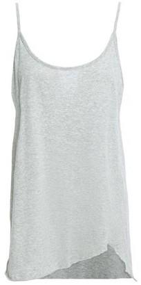 Bassike Asymmetric Melange Organic Cotton-jersey Camisole