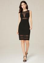 Bebe Cassidy Mesh Inset Dress