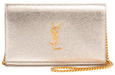 Saint Laurent Monogram Medium Wallet-on-Chain Bag, Gold