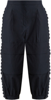 Fendi Scallop-edged cropped cotton cargo trousers