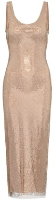 Alessandra Rich Crystal-embellished midi dress
