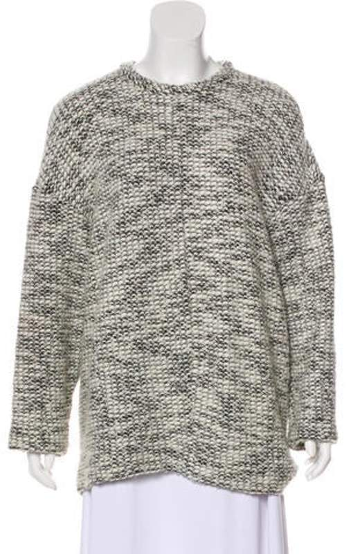 Helmut Lang Boucle' Oversize Sweater White Boucle' Oversize Sweater