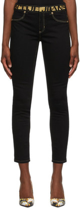 Versace Black Branded Tag Jeans