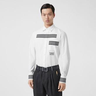 Burberry Stripe Print Cotton Oxford Shirt