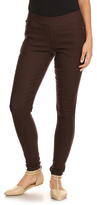 Brown Mid-Rise Jeggings