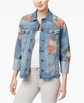 Joe's Jeans The Belize Floral-Embroidered Denim Jacket