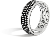 John Hardy Men's Chain Jawan 7.5MM Band Ring in Blackened Sterling Silver