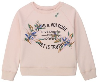 Zadig & Voltaire Cotton Logo Sweatshirt (6-16 Years)