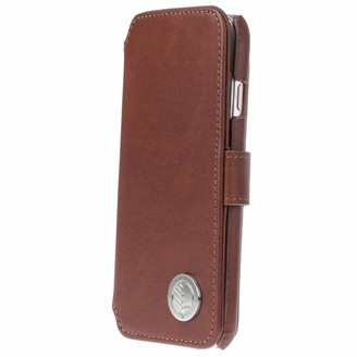 Drew Lennox iPhone Luxury English Leather Phone Wallet with 3 Card Slots in Rich Brown