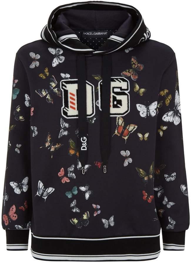 Dolce & Gabbana Butterfly Motif Hoodie