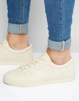 Asos Lace Up Sneakers in Stone