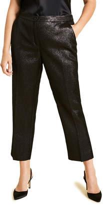 Marina Rinaldi Plus Size Metallic Crepe Straight-Leg Trousers