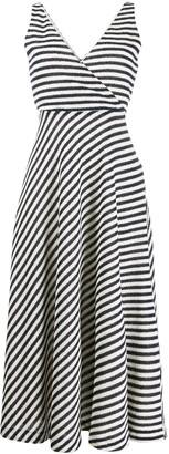 Harris Wharf London Striped Print Wrap Dress