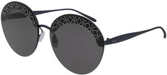 Alaia Round Rimless Studded Sunglasses