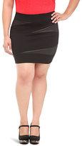 Torrid Black Faux Leather Splice Mini Skirt