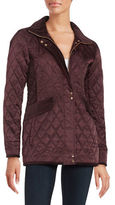Vince Camuto Quilted Zip-Front Coat