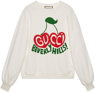 "Gucci Beverly Hills"" cherry print sweatshirt"