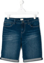 Armani Junior denim shorts - kids - Cotton - 13 yrs