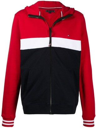 Tommy Hilfiger Colour Block Zipped Hoodie