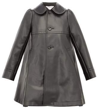 Comme des Garcons Heart Cut-out Faux-leather Coat - Womens - Black