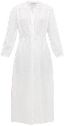 Three Graces London Julienne Muslin Shirt Dress - White