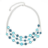 Gloria Vanderbilt Womens Blue Collar Necklace